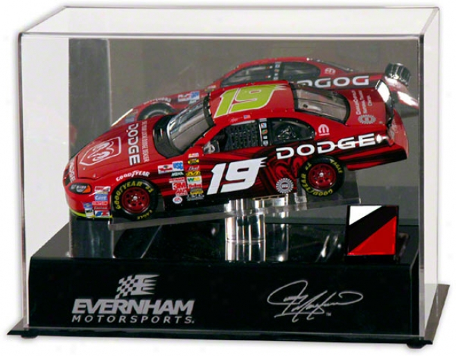 Jeremy Mayfield 1/24th Die Cast Display Case  Details: Platform, Race Used Metal