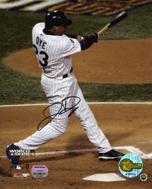 Jermaine Dye Chicago White Sox Swinging 8x10 Autographed Photo