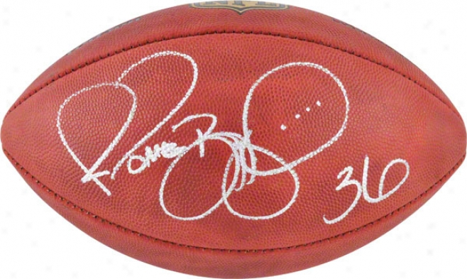 Jerome Bettis Autographed Football  Details: Pittsburgh Steelers, Duke Pro Football