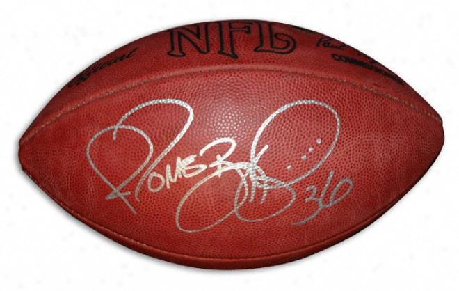 Jerome Bettis Autographed Football