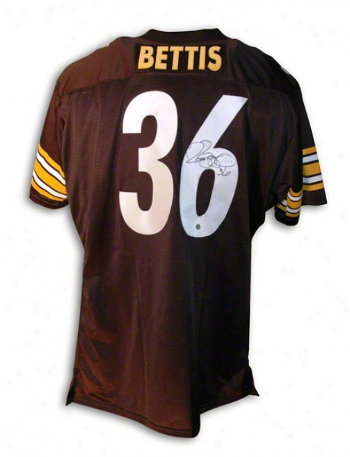 Jerome Btetis Autographed Pittsburgh Steelers Black Throwback Jersey