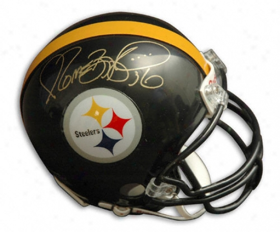 Jerome Bettis Autographed Pro-lune Helmef  Details: Pittsburgh Steelers, Authentic Riddell Helmet