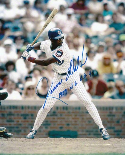 Jerome Walton Chicago Cubs Autograpjed 8x10 Photo W/ Inscription &quotroy 89&quot