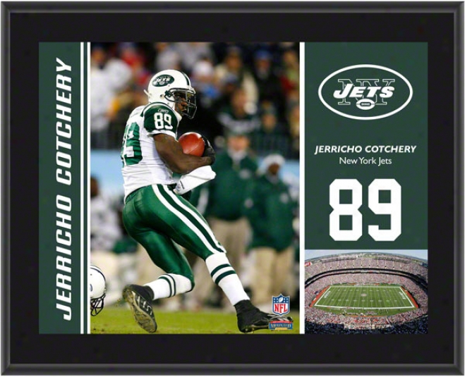 Jerircho Cotchery Plaque  Details: New York Jets, S8blimated, 10x13, Nfl Plaque
