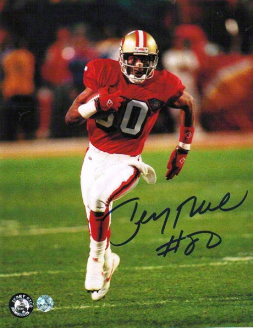 Jerry Rice Autographed San Francisco 49ers 8x10 Photo