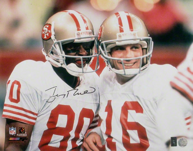 Jerry Rice San Francisco 49ers  Details: With Montana, 16x20