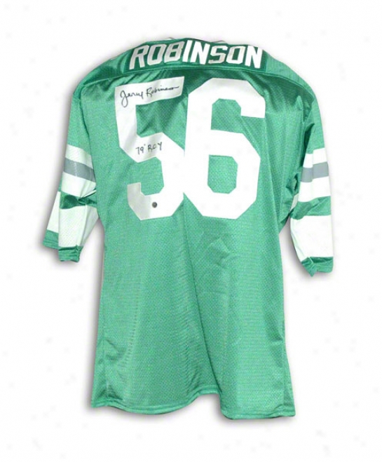 Jerry Robinson Philadelphia Eagles Autographed Green Throwback Jersey