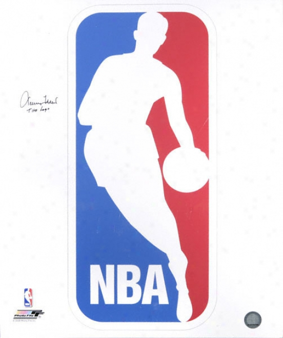 Jerry West Los Angeles Lakers Autographed 16x20 Nba Logo Photo