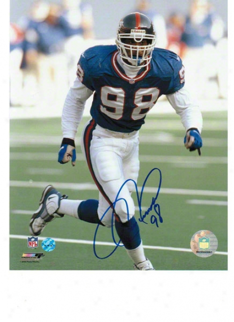 Jesse Armstead New York Giants Autogra0hed 8x10 Photo