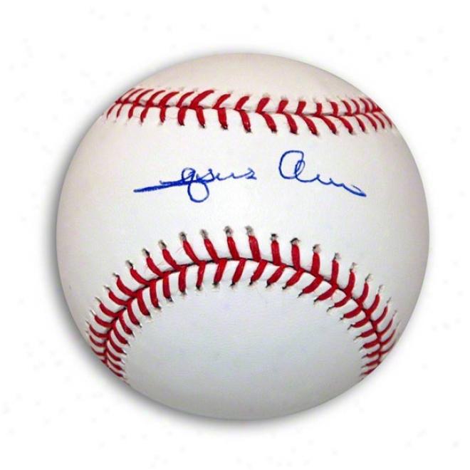 Jesus Alou Autographed Mlb Baseball