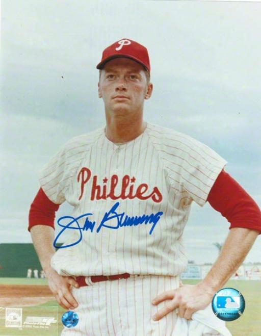 Jim Bunning Philadelphia Phillies Autographed 8x10 Photo Pose