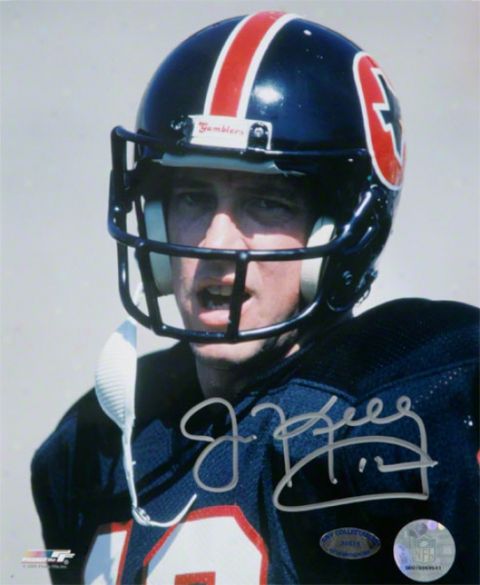 Jim Kelly Houston Gamblers Autographed 8x10 Photograph