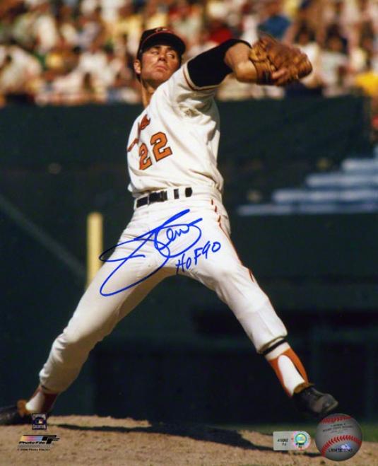 Jim Palmer Autographed Photograph  Details: 8x10, Baltimore Orioles, Hof 90 Inscription