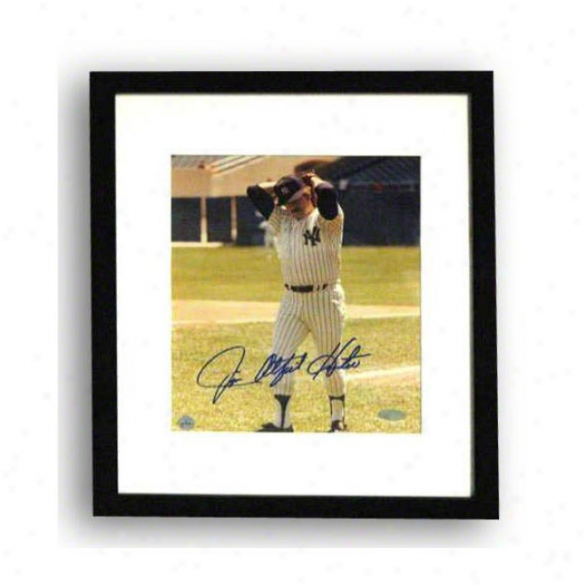 Jim &quotcatfish&quot Hunter Autographdd New Yorm Yankees Framed 8x10 Photo Inscribed &quotcatfish&quot
