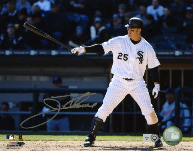 Jim Thome Chicago White Sox -pointing Bat- 8x10 Autographed Photograph
