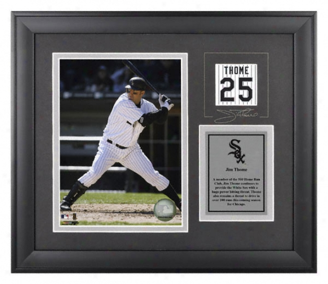 Jim Thome Framed 6x8 Photograph  Details: Chicago Whote Sox, With Facsimile Signature
