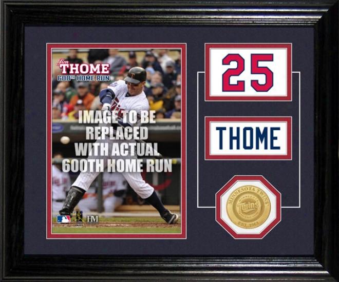 Jim Thome Minnesota Twins 600th Home Run Desk Top Photo Mint