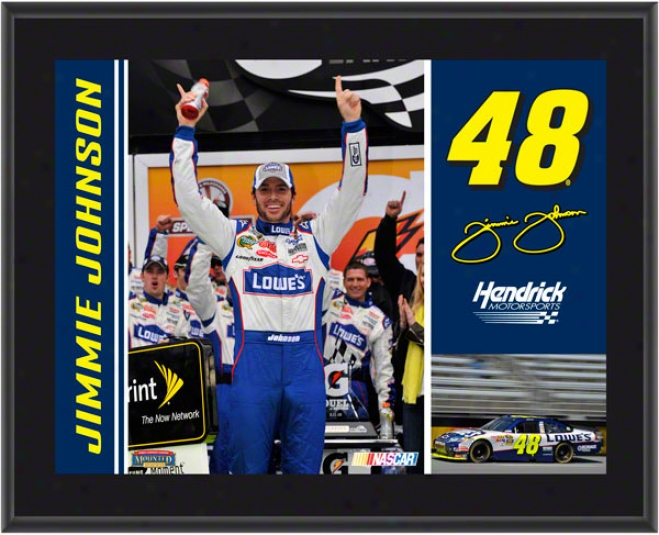 Jimmie Johnson Plaque  Details: #48 Lowe's Car, Hendrick Motorsports, Sublimated, 10x13, Nascar Piaque