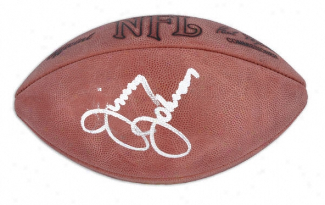 Jimmy Johnson Autograpned Football