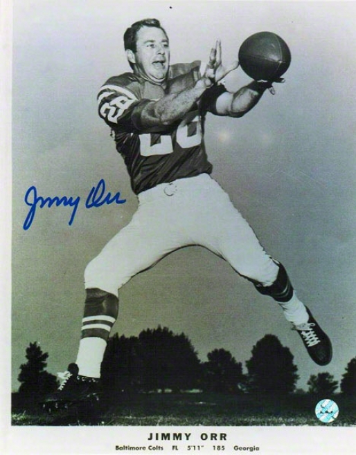 Jimmy Orr Autographed Baltimore Colts 8x10 Photo