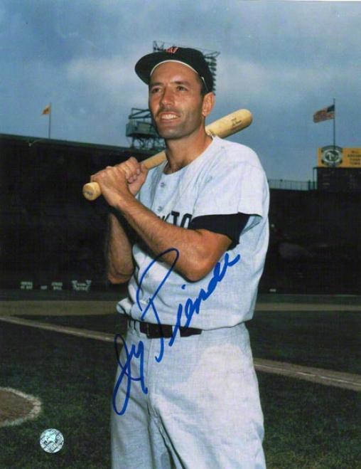 Jimmy Piersall Washington Senators Autographed 8x10 Photk