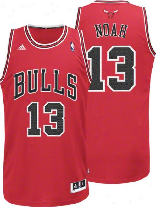 Joakim Noah Jersey: Adidas Revolution 30 Red Swingman #13 Chicago Bulls Jersey