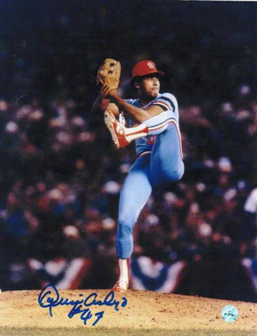 Joaquin Andujar St. Louis Cardinals Autographed 8x10 Photo Pitching