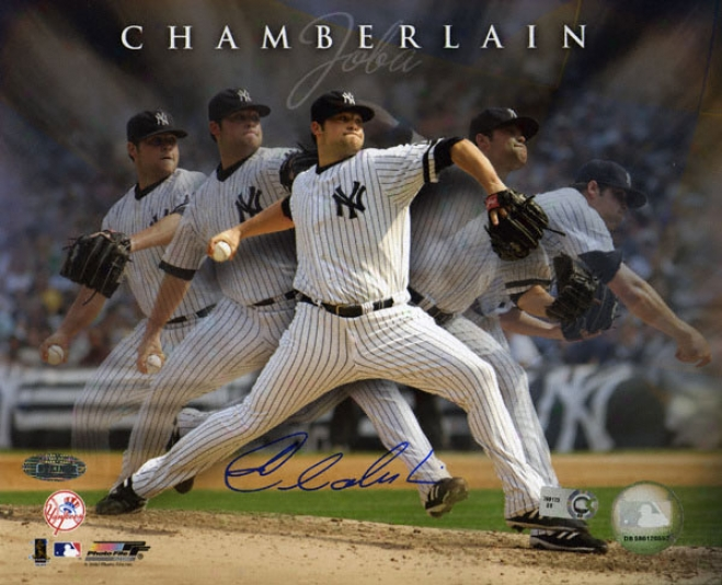 Joba Chamberlain Unaccustomed York Yankees - Multi Exposure - Autographed 8x10 Phottgraph
