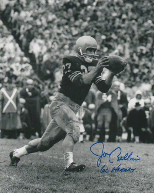 Joe Bellino Navy Midshipmen Autographed 8x10 Photograph With 60 Heisman Inscription
