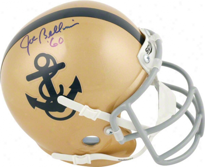 Joe Bellino Navy Midshipmen Autographed Mini Helmet With 60 Inscription