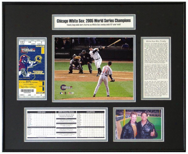 Joe Crede Chicago White Sox 2005 World Series Champions World Series Ticket Frame