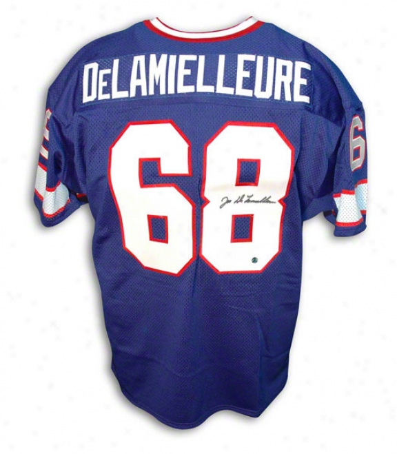 Joe Delamielleure Autographed Buffalo Bills Throwback Jersey