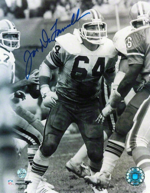 Joe Delamielleure Cleveland Browns Autographed 8x10 Phoro Protecting Sipe