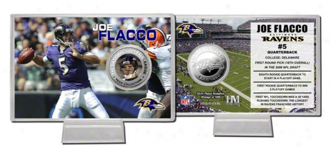 Joe Flacco Baltimore Ravens Silver Coij Card