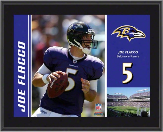 Joe Flacco Plaque  Details: Baltimore Ravens , Sublimated, 10x13, Nfl Plaque