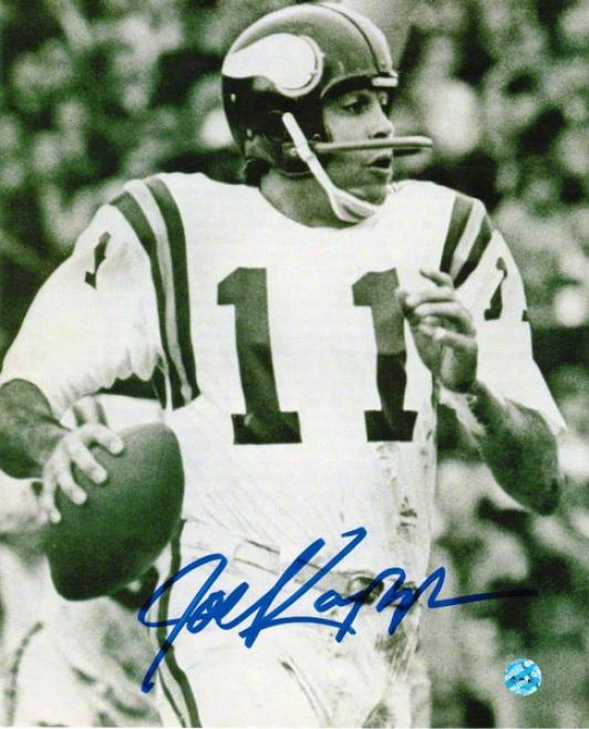 Joe Kapp Minnesota Vikings Autographed 8x10 Photo Bw