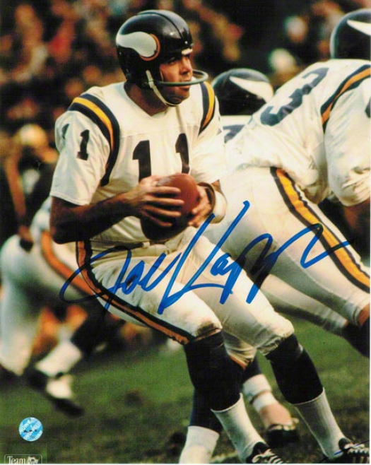 Joe Kapp Minnesota Vikings Autographed 8x10 Photo Dropping Back