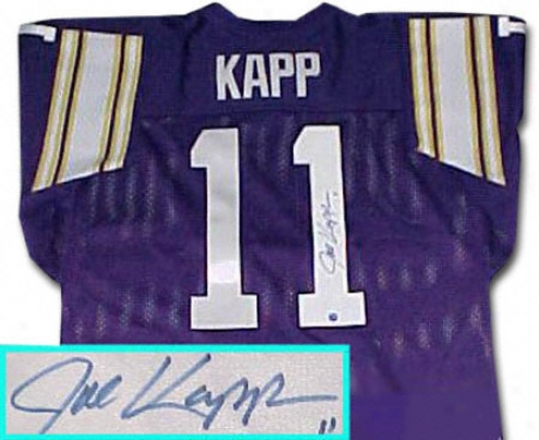 Jle Kapp Minnesota Vikings Autographeed Throwback Purple Jersey