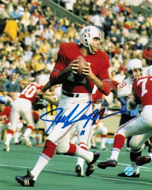 Joe Kapp New England Patriots Autographed 8x10 Photo Vs Cardinals