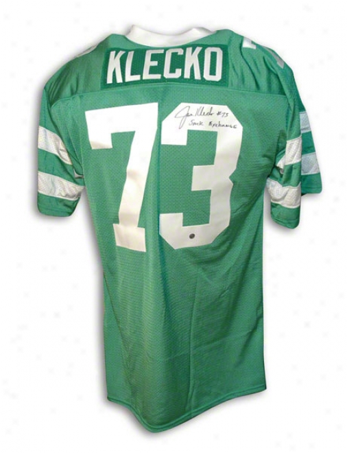 Joe Klecko Autographed New York Jets Green Throwback Jersey Inscribed &quotsack Exchange&quot