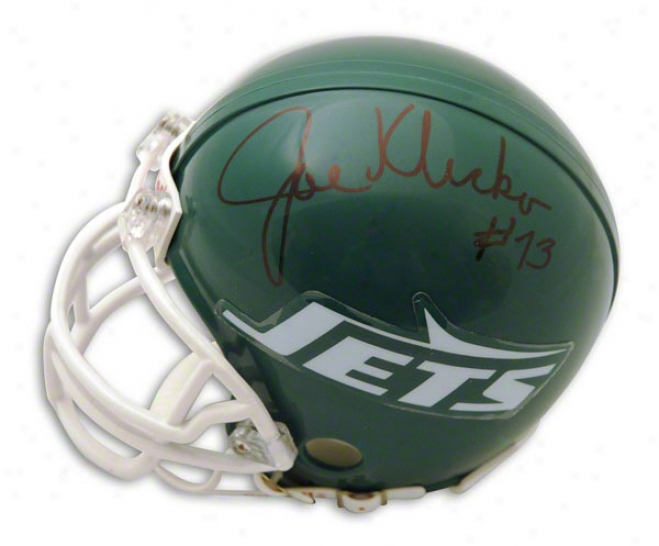 Joe Klecko Autographed Recent York Jets Throwback Mini Helmet