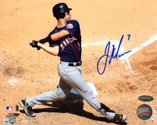 Joe Mauer Minnesota Twins - At Bat - Autographed 8x10 Photograph