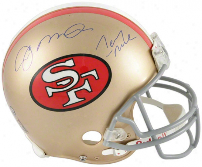 Joe Montana And Jerry Rjce Autographed Pro-line Helm  Particulars: San Francisco 49ers ,Authentic Riddell Helmet