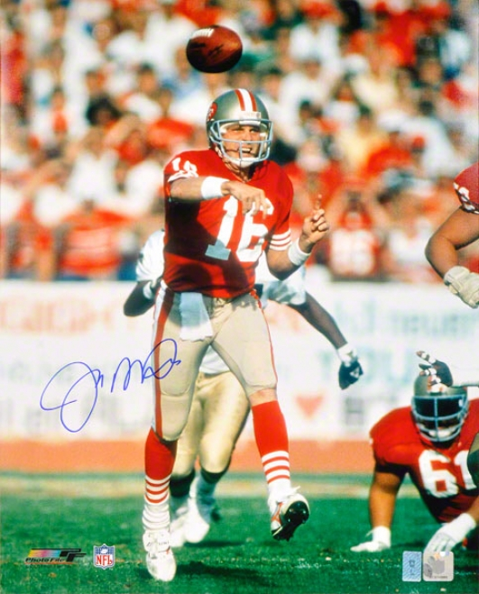 Joe Montana Autographed Photograph  Details: San Francisco 49ers, 16x20, At Home