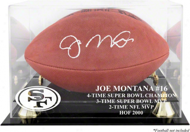 Joe Montana Golden Classic Football Case  Details: Hof 2000