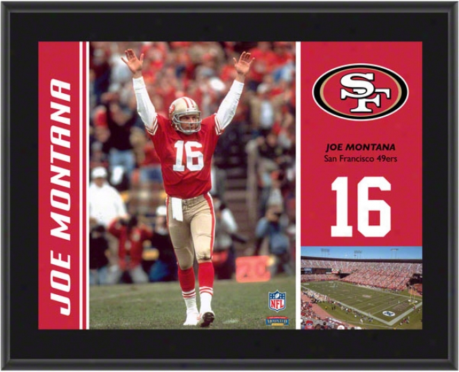 Joe Montana Plaque  Details: San Francisco 49ers, Sublimated, 10x13, Nfl Plaque