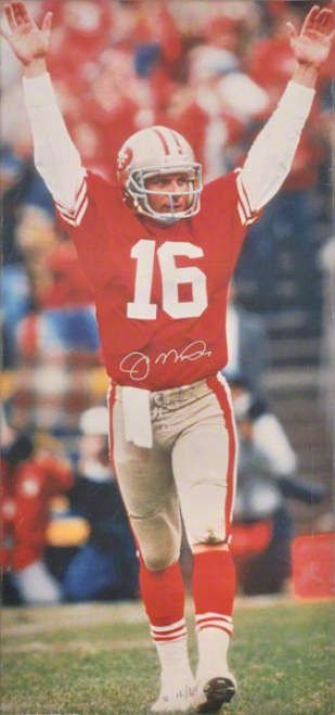 Joe Montana San Francisco 49ers Autographed Canvas