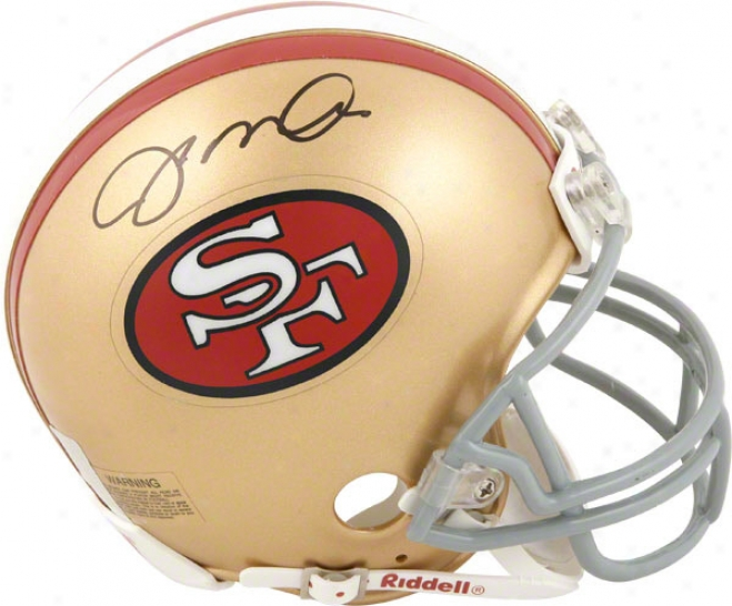 Joe Montana San Francisco 49ers Autogeaphed Throwback Mini Helmet