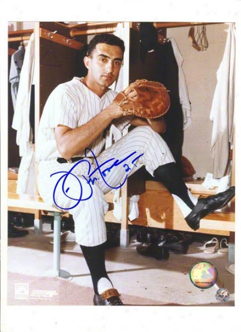 Joe Pepitone Autographed New York Yankees 8x10 Photo