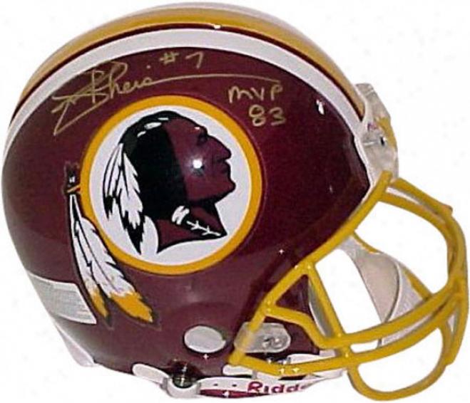 Joe Theismann Washington Redskins Autographed Pro Helmet With 83M vp Inscription